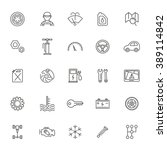 outline icons. car parts and... | Shutterstock .eps vector #389114842