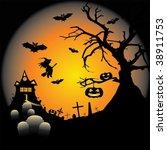 halloween vector illustration | Shutterstock .eps vector #38911753