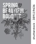 victorian bouquet. spring... | Shutterstock .eps vector #389119636