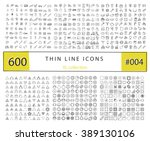 600 vector thin line icons set... | Shutterstock .eps vector #389130106