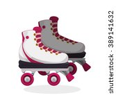 roller skating design | Shutterstock .eps vector #389141632