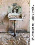 old abandoned grunge metal sink ... | Shutterstock . vector #389149552