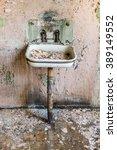 old abandoned grunge metal sink ... | Shutterstock . vector #389149552