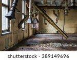 rusty metal tubes in old... | Shutterstock . vector #389149696