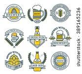 vintage craft beer retro design ... | Shutterstock .eps vector #389165236
