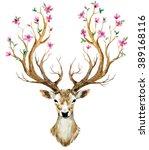 watercolor illustration... | Shutterstock . vector #389168116
