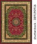 carpet border frame pattern  | Shutterstock . vector #389190916