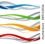 set of color wave. wave design... | Shutterstock . vector #389210026