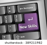 keyboard illustration with new... | Shutterstock . vector #389211982