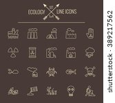 ecology icon set. | Shutterstock .eps vector #389217562