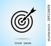 darts target sign icon  vector... | Shutterstock .eps vector #389218858