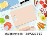fast food flat banner. for... | Shutterstock .eps vector #389221912