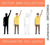 vector collection of men in... | Shutterstock .eps vector #389234806