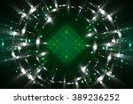 abstract fractal green... | Shutterstock . vector #389236252
