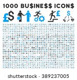 1000 business vector icons.... | Shutterstock .eps vector #389237005