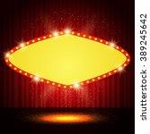 shining retro casino banner on...   Shutterstock .eps vector #389245642