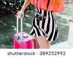 outdoor fashion image of young... | Shutterstock . vector #389252992