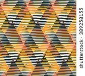 vector geometric seamless...   Shutterstock .eps vector #389258155