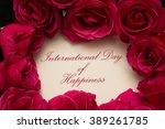 international day of happiness | Shutterstock . vector #389261785