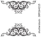 vintage baroque frame scroll... | Shutterstock . vector #389264215
