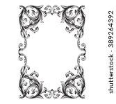 vintage baroque frame scroll... | Shutterstock . vector #389264392