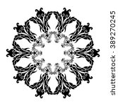 mandala pattern on a white... | Shutterstock .eps vector #389270245