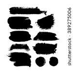 abstract vector paint blots | Shutterstock .eps vector #389275006