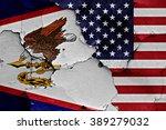 flags of american samoa and usa