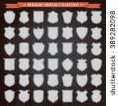 heraldic shields frames... | Shutterstock .eps vector #389282098