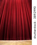 red clean closed velvet curtain ... | Shutterstock . vector #3892990