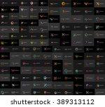 huge mega collection of... | Shutterstock .eps vector #389313112