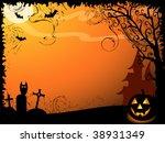 halloween vector background | Shutterstock .eps vector #38931349