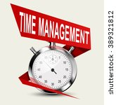 stopwatch   time management... | Shutterstock .eps vector #389321812