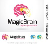 magic brain logo template... | Shutterstock .eps vector #389337556