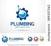 plumbing logo template design... | Shutterstock .eps vector #389337562