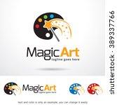 magic art logo template design... | Shutterstock .eps vector #389337766