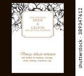 vintage delicate invitation...   Shutterstock . vector #389347612