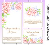 vintage delicate invitation...   Shutterstock .eps vector #389348008