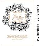vintage delicate invitation... | Shutterstock .eps vector #389350645