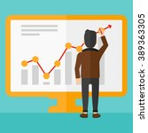 businessman presenting report. | Shutterstock .eps vector #389363305