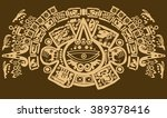 maya  pattern tribal | Shutterstock .eps vector #389378416