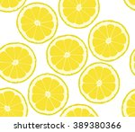 background from the cut lemons | Shutterstock .eps vector #389380366