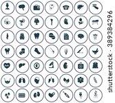set of forty nine medicine icons | Shutterstock .eps vector #389384296
