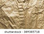 crumpled brown paper texture | Shutterstock . vector #389385718