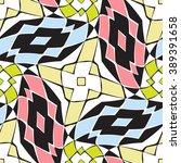 diagonal diamonds pattern ... | Shutterstock . vector #389391658