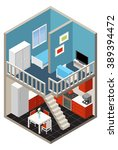 vector isometric house  | Shutterstock .eps vector #389394472