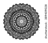 mandala. floral ethnic abstract ... | Shutterstock .eps vector #389409028