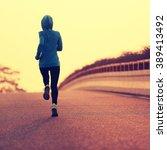 young fitness woman runner... | Shutterstock . vector #389413492