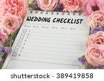 word wedding checklist note... | Shutterstock . vector #389419858
