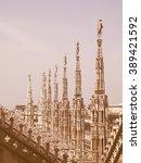 duomo di milano gothic... | Shutterstock . vector #389421592